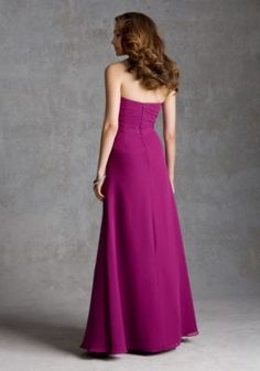 Long Chiffon Morilee Bridesmaid Dress with Side Slit and Beaded Brooch Detail | Style 692 | Morilee