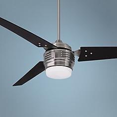 """60"""" Emerson 4th Avenue Brushed Steel Ceiling Fan"""