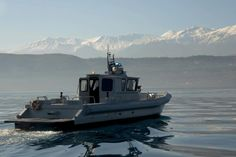 160202-N-IL474-019 SOUDA BAY, Greece (Feb. 2, 2016) - Sailors assigned to Naval Support Activity Souda Bay Harbor Security perform a routine patrol of Souda Bay aboard a 36-foot patrol boat. U.S. 6th Fleet, headquartered in Naples, Italy, conducts the full spectrum of joint and naval operations, often in concert with allied, joint, and interagency partners, in order to advance U.S. national interests and security and stability in Europe and Africa.  (U.S. Navy photo by Heather…