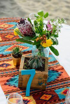 Boho desert beach wedding, cactus & proteas! Photography by Eva Sica and Toms Cirksis