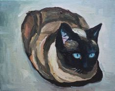 Sitting Siamese by contemporary artist Emma Cownie
