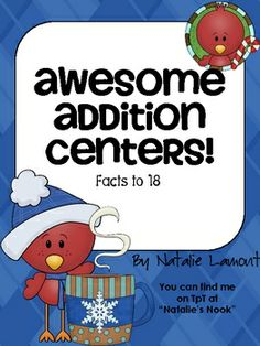 free addition centers..practice adding to 18