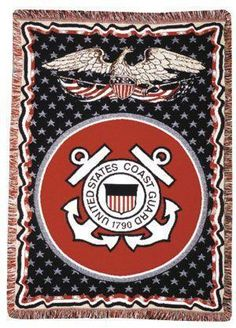 Coast Guard full-size 3 layer throw - With Love Home Decor