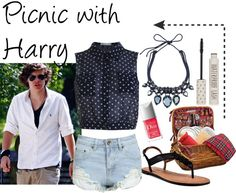 """""""Picnic with Harry"""" by phenomeniall-style ❤ liked on Polyvore"""