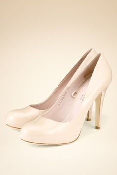 Concealed Platform wedding shoes - nude pink