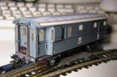Baggage Car Free Train Paper Model Download -