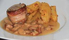 Panenka v slaninovom kabáte s hríbovou omáčkou