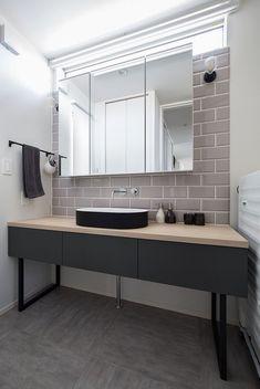 シックで洗練された家|施工実績|愛知・名古屋の注文住宅はクラシスホーム Bathroom Interior, Interior Design Living Room, Wc Public, Washroom Design, Powder Room Design, House Rooms, Home Renovation, Bedroom Decor, House Design