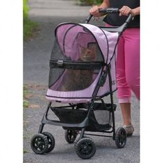 """Take your pet with you in style! Pet Gear has really """"raised the bar"""" with their new Happy Trails NO-ZIP stroller. No zippers means no hassle when trying to open and close the stroller. The NO-ZIP tec"""