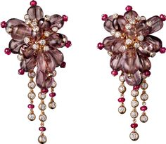 Pink gold, white gold, garnets, rubies, diamonds