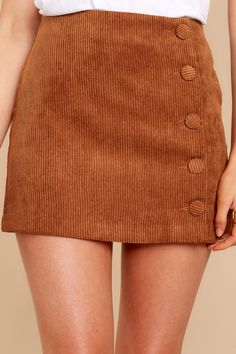 Adorable Brown Corduroy Skirt - Trendy Corduroy Skirt - Skirt - $42.00 – Red Dress Boutique