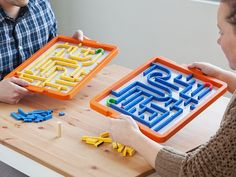 Build mazes to stump your competition—the trickier the better. Fast-paced and fun, this game teaches logic and engineering without kids even noticing.