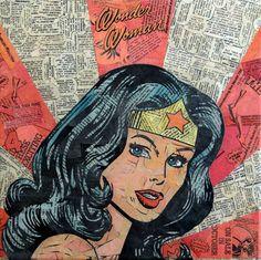Wonder Woman by Mike Alcantara of ComicCollageArt