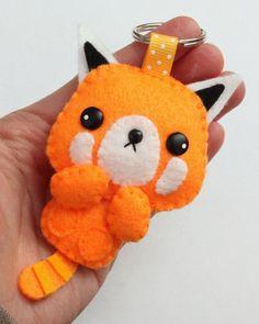 Rodney the Red Panda Felt Keychain.