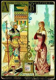 Women in Opera (No. 1) trading card issued by Liebig Extract of Beef Company. S329.