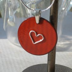 Valentine's Day enamel over copper with sterling by DrinkingforArt, $32.00