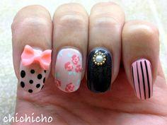 Eclectic Classy Cute Junk Nails