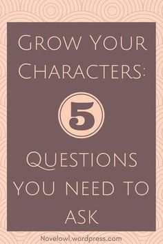 Want to know the essentials about your character? Ask them these 5 questions.