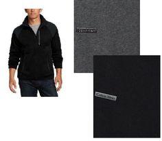 Calvin Klein men's sweater cardigan full zip solid long sleeves size S, L NEW #CalvinKlein #Cardigan