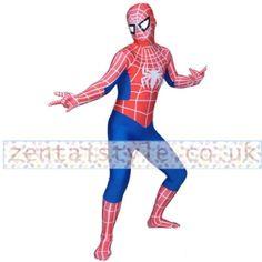 Full Body Blue and Red Lycra Spandex Spiderman Zentai Costume [CTWL111222039] - £36.39 : Zentai, Sexy Lingerie, Zentai Suit, Chemise