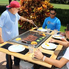 My Hibachi BBQ 3-In-1 Freestanding Flattop Teppanyaki Propane Gas Grill available at BBQ Guys. Great for entertaining in the backyard or...