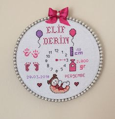 Basic Embroidery Stitches, Hand Embroidery Videos, Hand Embroidery Art, Cross Stitch Embroidery, Embroidery Designs, Baby Cross Stitch Patterns, Cross Stitch Designs, Crafts, Baby Baby