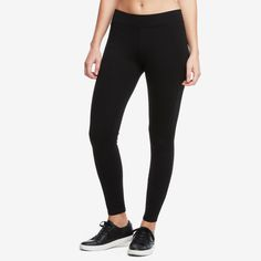 The Pant, Super Black. Our elevated, versatile stretch pant. Made with custom-finished ponte fabric, it's designed to fit and flatter every body type with curve-skimming coverage. Featuring a small front pocket, and structured, no-droop waistband.  Made in USA. $69