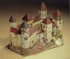 Maquetas de castillos para montar con recortables Castillo Bodiam, Castles, Gingerbread, Origami, Paper Crafts, Halloween, Neuschwanstein Castle, Medieval Castle, Middle Ages