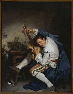Jean-Baptiste Greuze - Gitarzysta (L'Oiseleur) (1757)