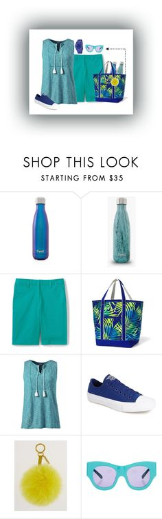 """""""Mom's Saturday"""" by kaytekix ❤ liked on Polyvore featuring S'well, Lands' End, Converse, Fendi, Karen Walker, Swatch, mom, roadtrip and landsend"""