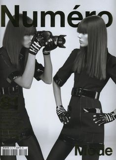 Autoportraits, la couture ' editorial by the Kaiser, with the beautiful Freja Beha Erichsen 'shooting herself ' for Numero Magazine #81 (March 09)
