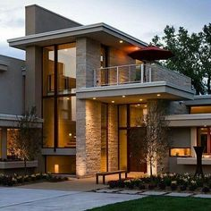 New House Modern Exterior Architecture Outdoor Living Ideas Architecture Design, Garden Architecture, Architecture Definition, Dream House Exterior, House Exterior Design, Wall Exterior, Facade Design, Facade House, House Facades