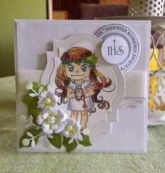 Kartka komunijna dla dziewczynki...1