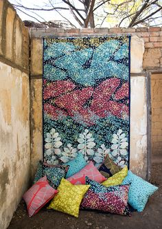 New Horizon- Design Team Fabrics Fabric Design, South Africa, Fabrics, Quilts, Blanket, Wallpaper, Painting, Art, Tejidos