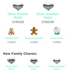 Just released new Holiday and Family charms. http://vrutledge.origamiowl.com