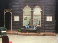 Set for All My Sons by Arthur Miller. Designed by Robin Turner for Kelvin Players Theatre Co.