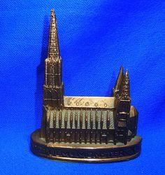 Vintage German Metal Souvenir Building Ulm - Muenster Dom #CB