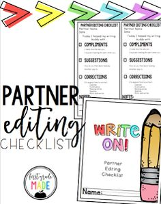 Writer's Workshop Partner Editing Checklist