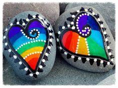 piedras pintadas a mano amor - Buscar con Google