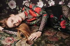 """stormtrooperfashion:  Rianne Van Rompaey in """"Garden of Love"""" by Daniel Jackson for Vogue China, April 2015"""