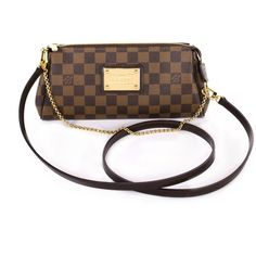 7cd820bbdcc9 Louis Vuitton Damier Eva Clutch ($775) ❤ liked on Polyvore featuring bags,  handbags