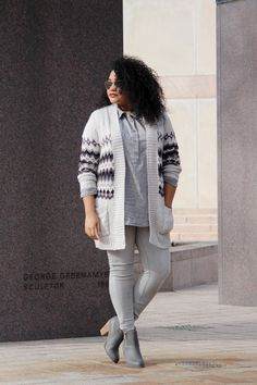 Gray trend outfit idea