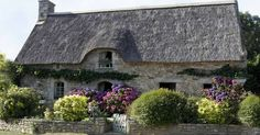 Bretagne, the houses are so beautiful there. Hydrangeas grow like weeds.   Projects   Pinterest   Beautiful, Bretagne and Style