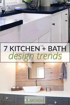 Decor Interior Design, Interior Decorating, Kitchen And Bath Design, Dream Bathrooms, Bathroom Inspiration, Kitchen Storage, Natural Wood, Home Remodeling, Design Trends