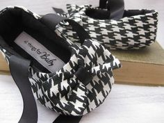 Girls shoes black and white houndstooth baby by allthingsforbaby