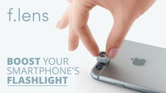 Flens - The first flashlight booster for smartphones - YouTube