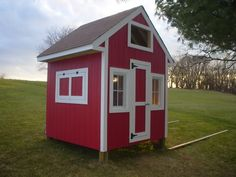 Planning on something like this for our coop. Except using old barn wood siding so I can have a background for portraits too!