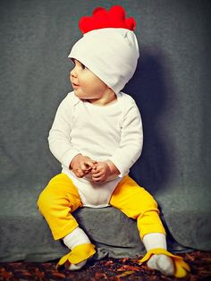 Learn how to make a cute and easy baby chick costume.