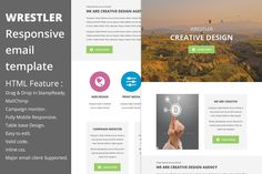 Wrestler - Responsive email template by QuickArtisan on Creative Market