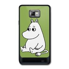 YYX New Designed Cute Cartoon Moomin Hard Plastic high quality mobile phone cover case For Samsung Galaxy S2 I9100(China (Mainland))